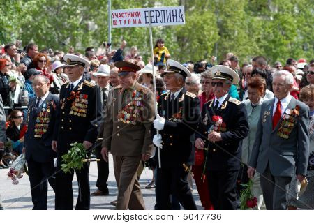 Veteran's Parade. 9 Of May. Ukraine, Sevastopol