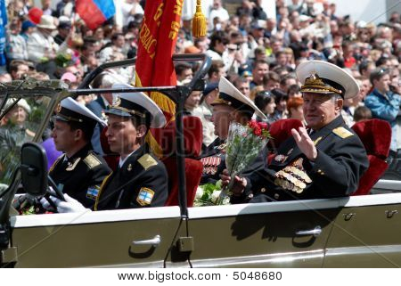 Russian Veteran's Parade. 9 Of May