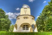 The Einstein tower in Potsdam at the science park in HDR poster
