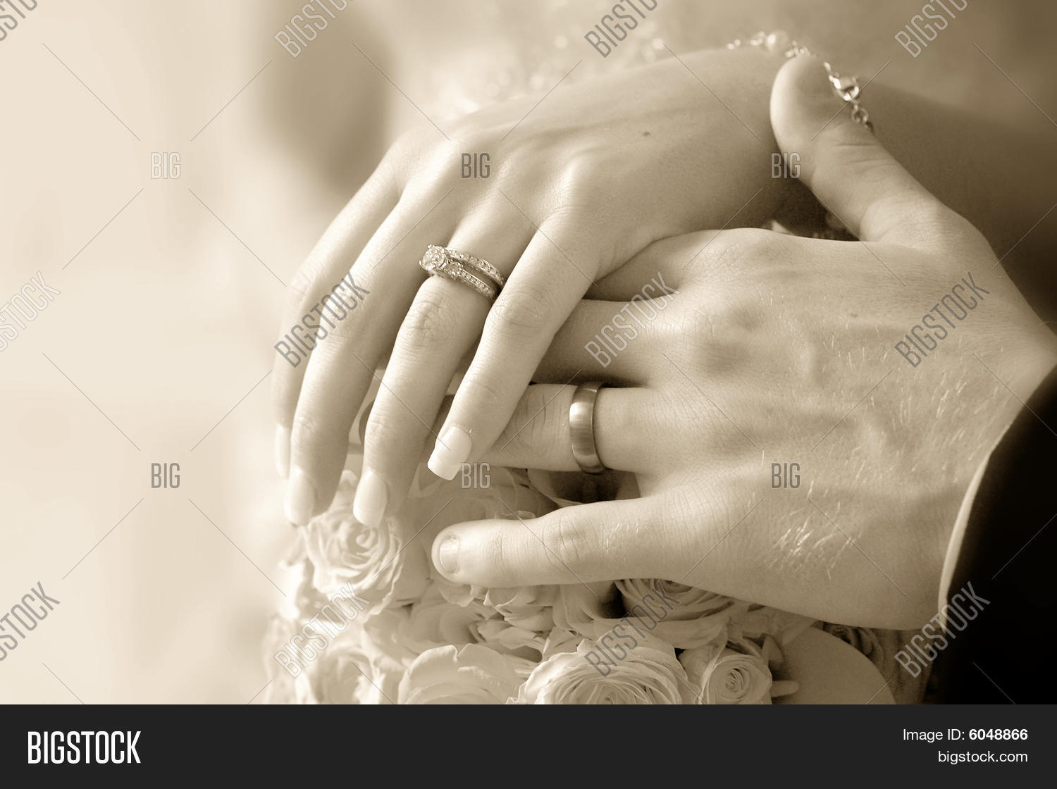 Wedding Rings On Bride Groom Hands Image Photo Bigstock