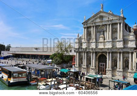 VENICE, ITALY - APRIL 13: A view of Chiesa di Santa Maria di Nazareth on April 13, 2013 in Venice, Italy. Due the proximity to the Santa Lucia railway station, it is a monument widely seen in the city