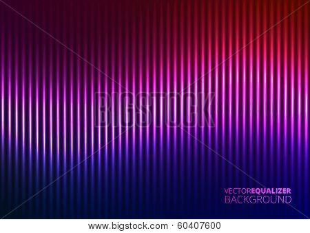 Vector Illustration of a Violet Music Equalizer