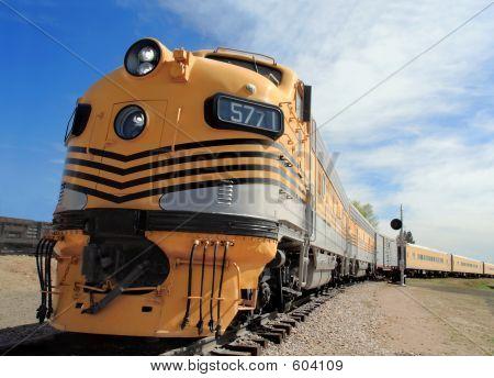 Locomotiva simplificada de uma época passada