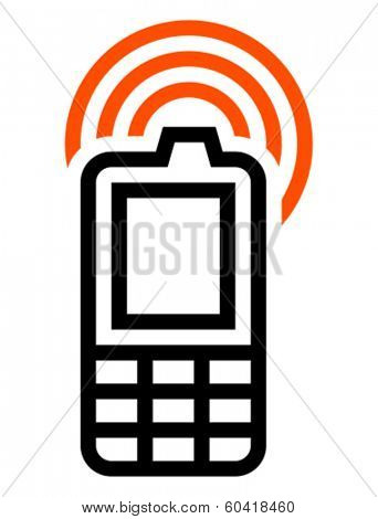 Cell phone with GSM signal