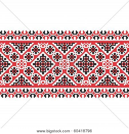 national pattern fabric texture horizontal; vector illustration poster