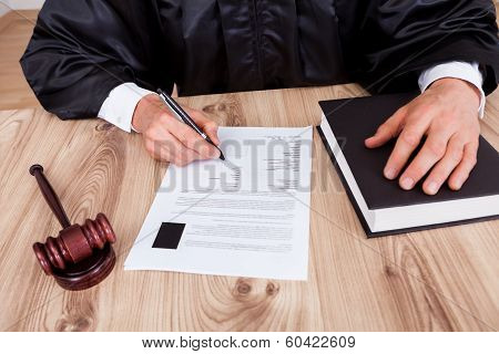 Male Judge In Courtroom