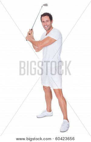Golfer After Swing