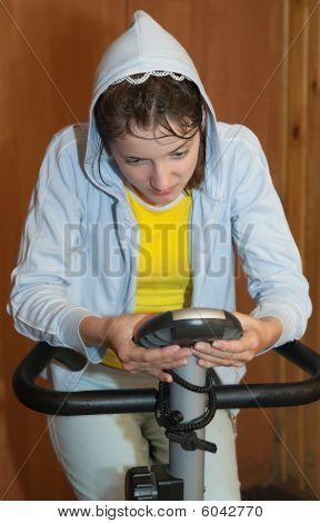 Girl On Exercycle