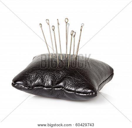 Many Sewing Pins And Pin Cushion