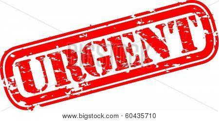 Grunge urgent rubber stamp, vector illustration