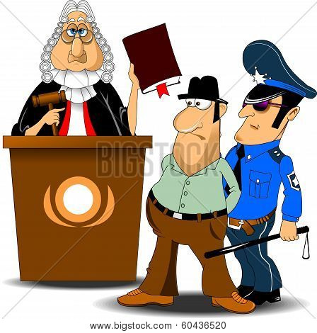 Judge And Police