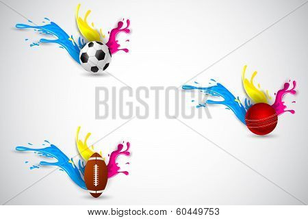 Colorful Splashy Sports Template