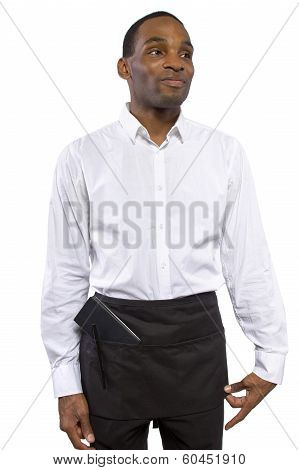 Waiter in White Background