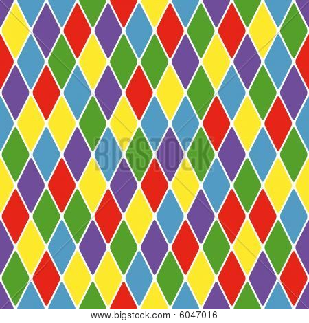 Harlequin parti-coloured seamless pattern. Color bright funny decorative vector illustration. poster