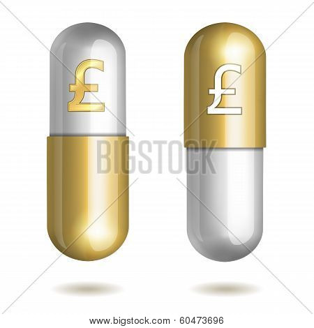 Capsule Pills with Pound Signs