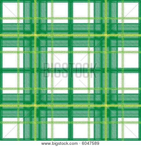 Green Scottish plaid seamless pattern. Color bright funny decorative vector background illustration. poster