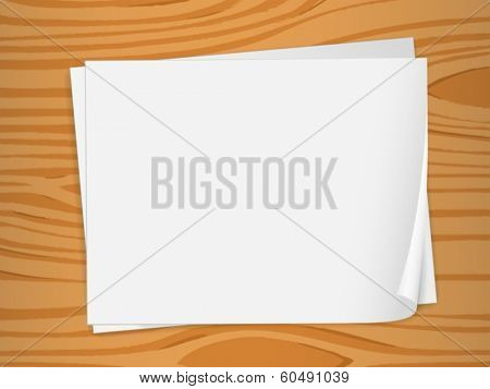Illustration of the empty sheets of bondpaper