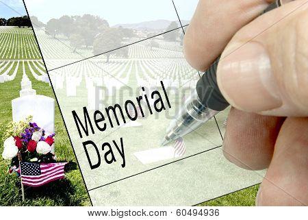 Memorial Day, Calendar Notation