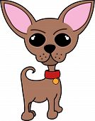 Vector of a cute small dog / chihuahua poster