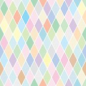 Harlequin pale diamond pattern. Color bright funny decorative vector background. poster