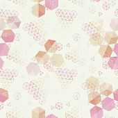 Geometric pattern of hexagons triangles. Full color seamless texture . Use as a banner fill pattern endless texture poster