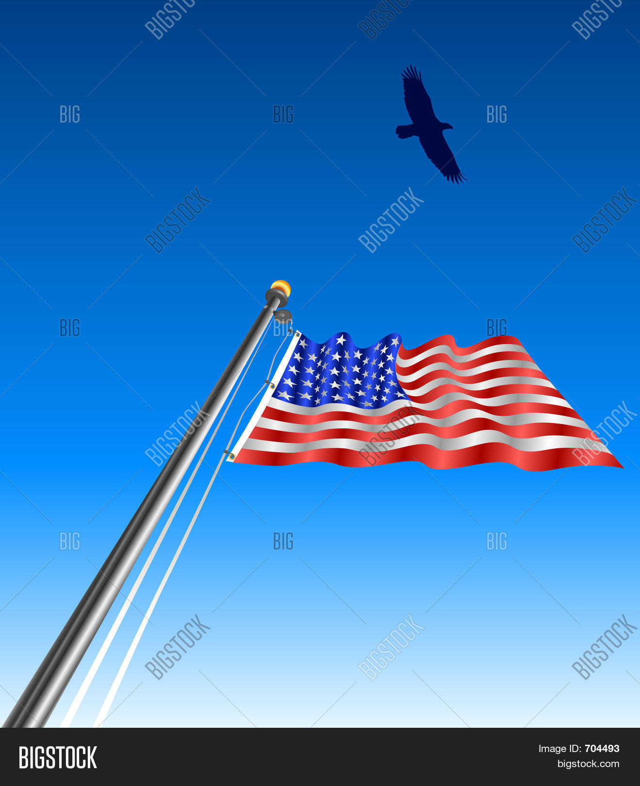 Waving Usa Flag Eagle Image Photo Free Trial Bigstock