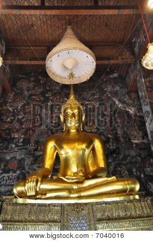 Grand Buddha Gold Mural