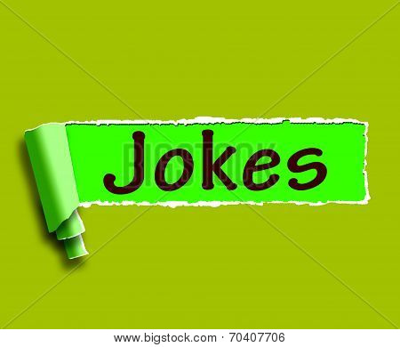 Jokes Word Means Humour And Laughs On Web