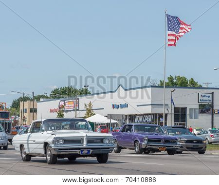 Bonneville, GTO, And Mustang, Woodward Dream Cruise