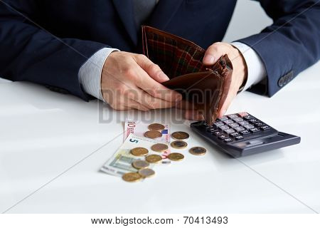 Businessman With Empty Wallet