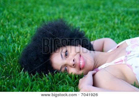 African American Model in nature
