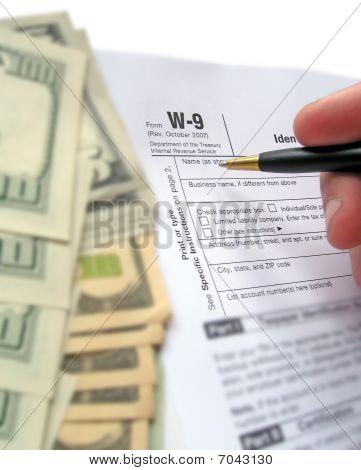 w 9 Einnahmen Steuerformular Ausfüllen von pen