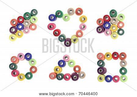 Spool Of Colorful Geometric Shapes