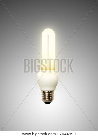 Energy saving lamp white background