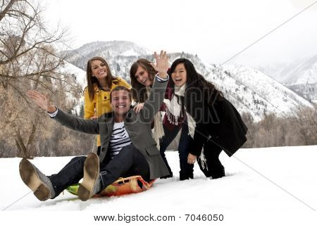 Young Adults Having fun together