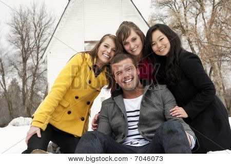 Young people Smiling Together