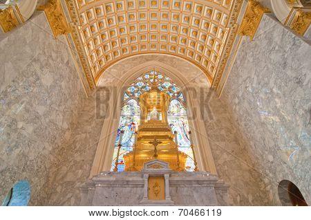 Interior Inside A Catholic Church