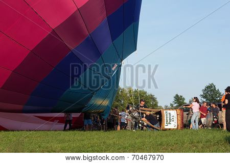 Metamora, Michigan – August 24 2013: Colorful Hot Air Balloons Launch At The Annual Metamora Country