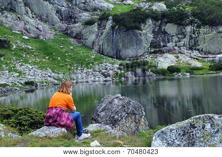 Woman At The Fish Lake