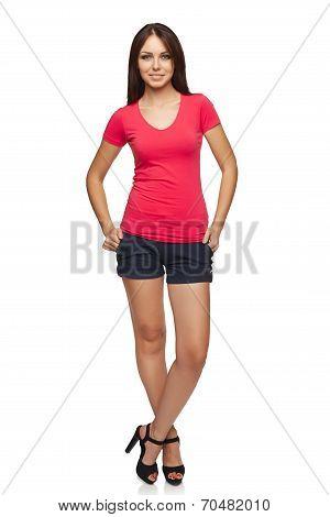 Full length casual woman