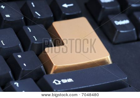 Golden Enter Key
