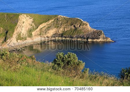 Lulworth Cove And Blue Ocean, South England
