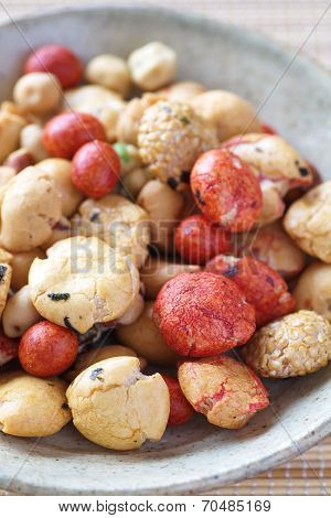 sweets beans with colored sugar coat