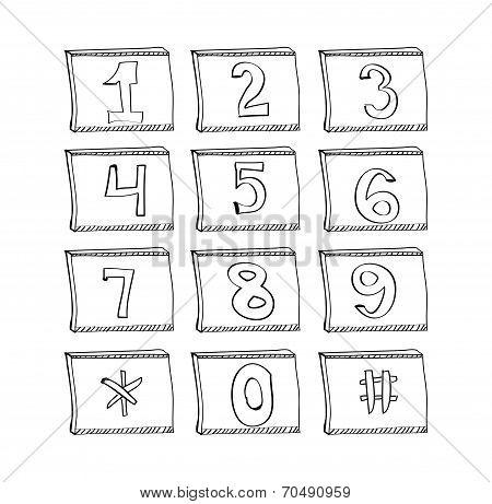 phone number vector illustration