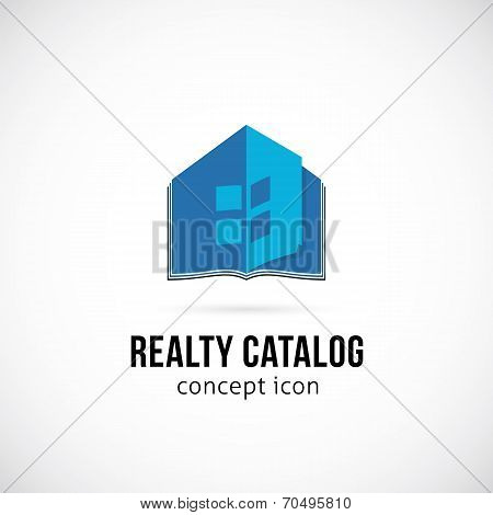 Real Estate Catalog Concept Symbol Icon or Logo Template Isolated poster