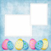 Easter card for the holiday with egg on the abstract background poster