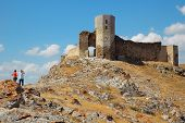 ruins of ancient fortresses in Romania Enisala poster