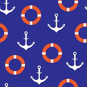 anchors seamless pattern background for website, lifeline poster