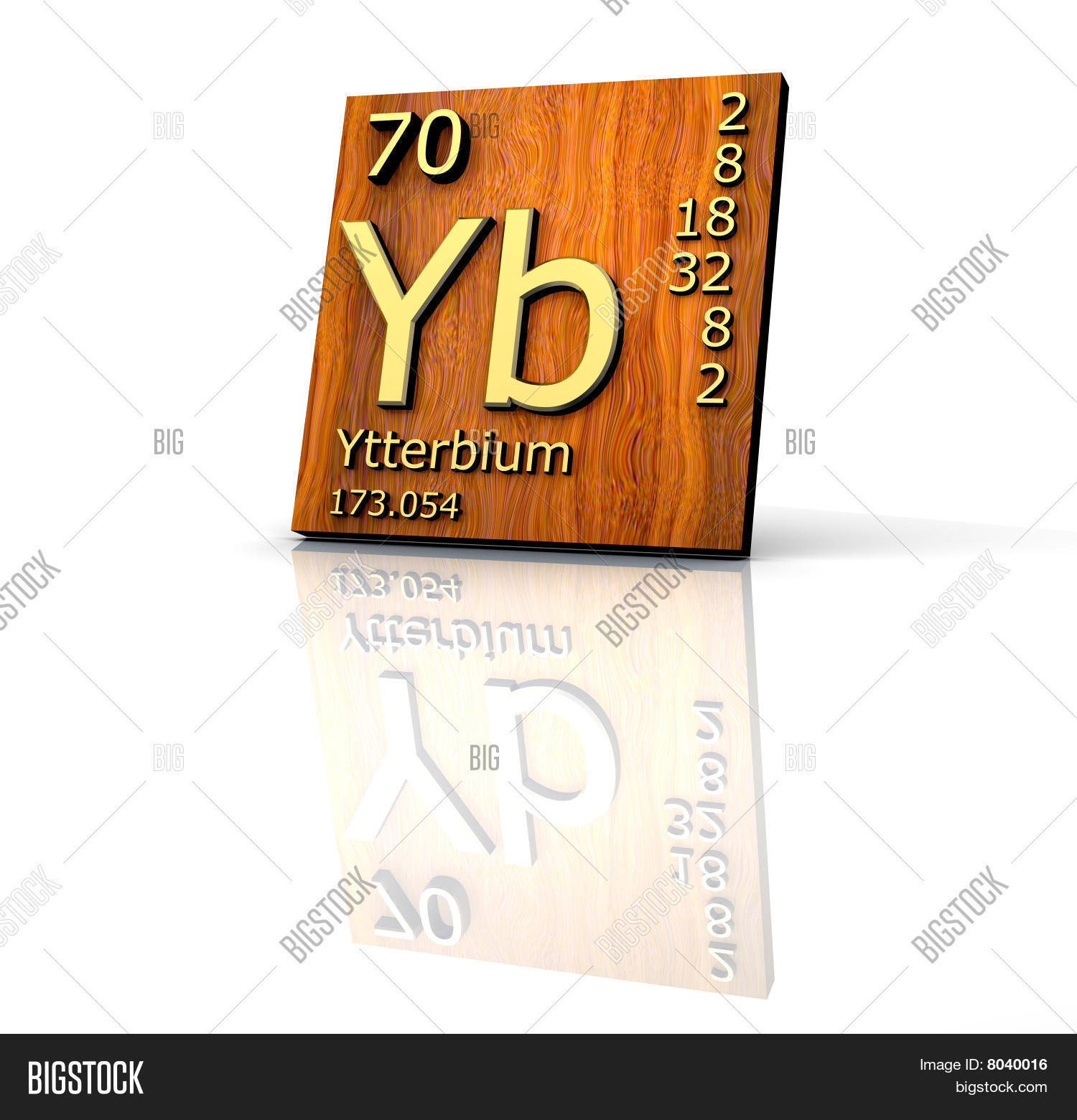 Ytterbium form image photo free trial bigstock ytterbium form periodic table of elements wood board urtaz Images