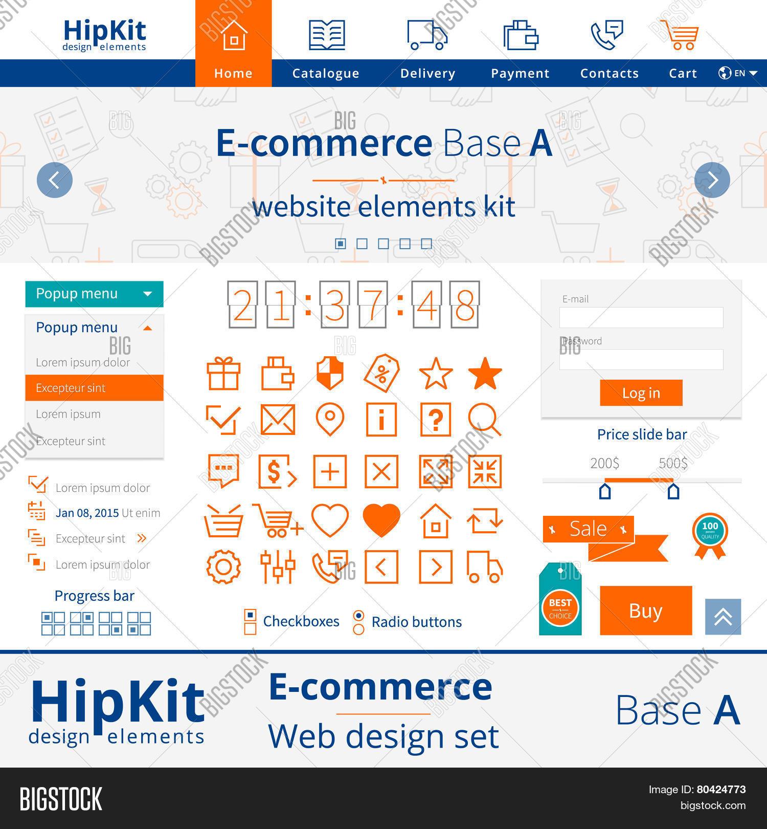 E-commerce Web Design Vector & Photo (Free Trial) | Bigstock